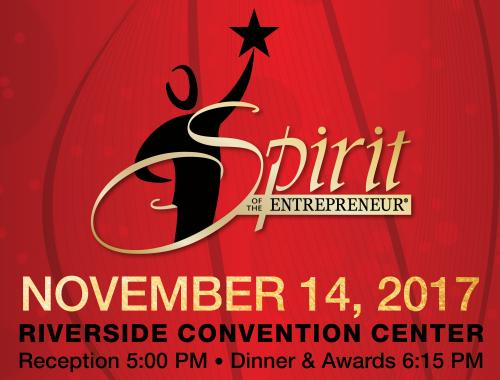Top entrepreneurs of the Inland Empire will compete for the Spirit of the Entrepreneur Award on November 14! Image.